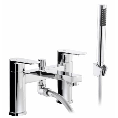 Flux Deck Mounted Bath Shower Mixer in Chrome