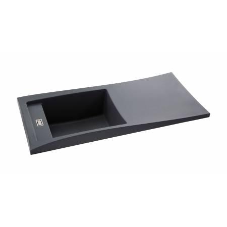 Londa Single Bowl & Drainer Sink in Grey Metallic Granite