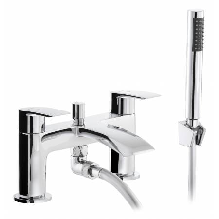 Loop Deck Mounted Bath Shower Mixer in Chrome