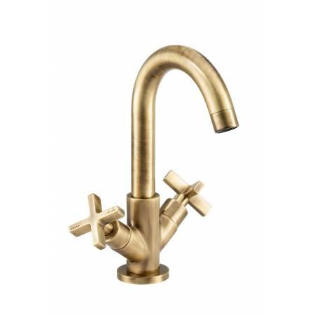Serenitie Monobloc Basin Mixer in Antique Brass