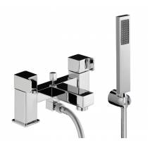 Rapport Deck Mounted Bath Shower Mixer with Shower Handset in Chrome