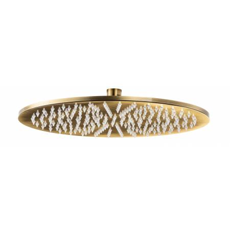 8mm Circular Showerhead 300mm in Antique Brass