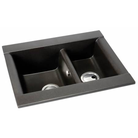 Aspekt 1.5 Bowl in Black Metallic Granite