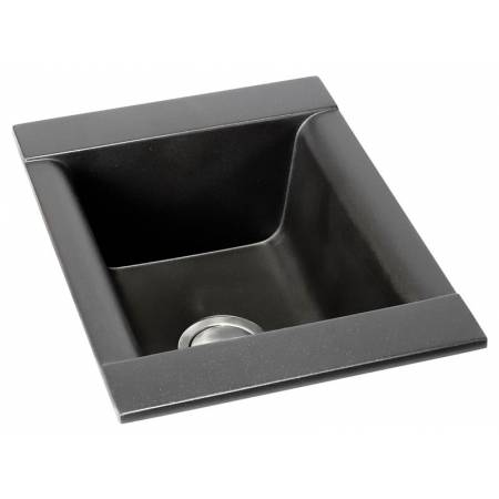 Aspekt Single Bowl in Black Metallic Granite