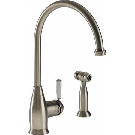 Astbury Single Lever with Integrated Handspray in Pewter