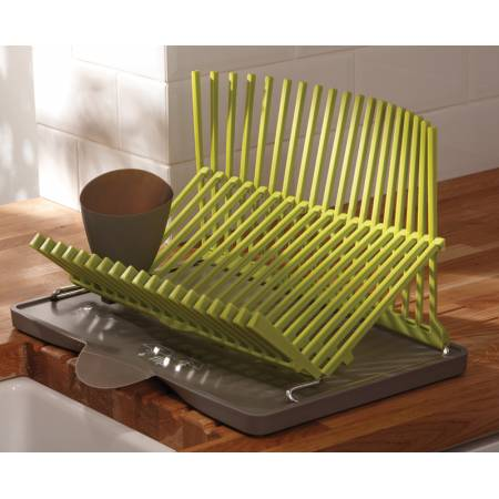 Black & Blum Plate Rack in Lime Green