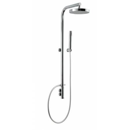 View Alternative product Circlular Wall Mounted Thermostatic Post Shower with 200mm Showerhead, Hose & Shower Handset in Chrome