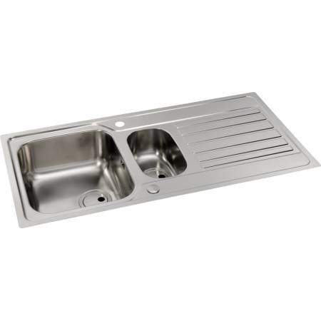 Connekt Flushfit 1.5 Bowl & Drainer in Stainless Steel