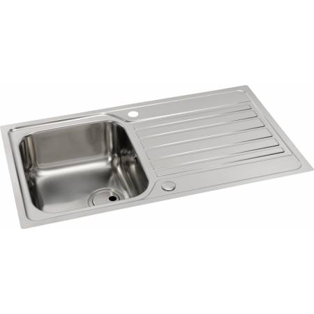 Connekt Flushfit Single Bowl & Drainer in Stainless Steel