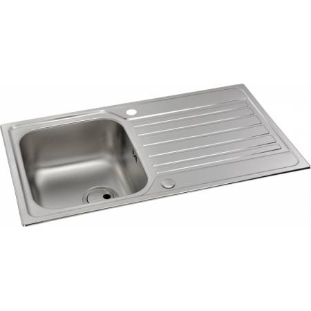 Connekt Single Bowl & Drainer in Stainless Steel