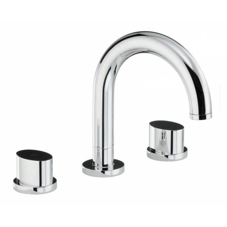 Début Thermostatic Deck Mounted 3 Hole Bath Mixer in Chrome