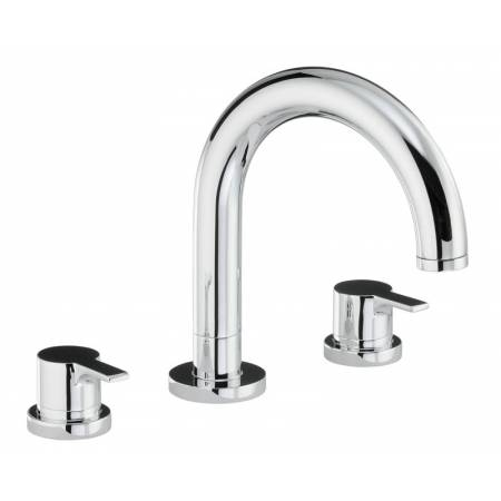 Desire Thermostatic Deck Mounted 3 Hole Bath Mixer in Chrome