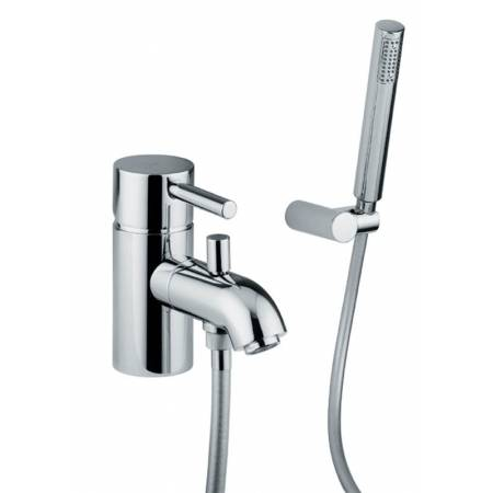 Harmonie Bath Monobloc Mixer with Shower Diverter and Handset in Chrome