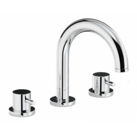 Harmonie Thermostatic Deck Mounted 3 Hole Bath Mixer in Chrome
