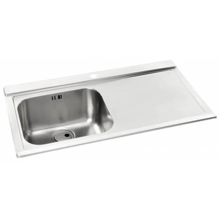 Maxim Single Bowl & RH Drainer in Stainless Steel