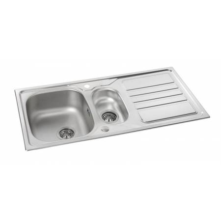 Mikro 1.5 Bowl & Drainer in Stainless Steel