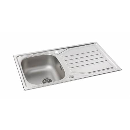 Mikro Single Bowl & Drainer in Stainless Steel