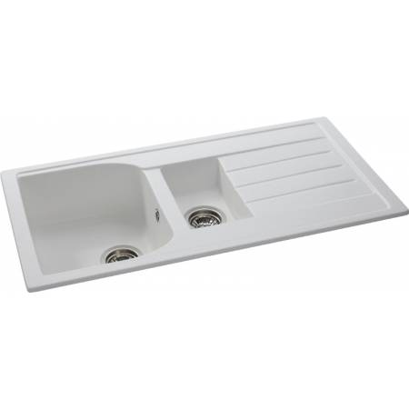 View Alternative product Oriel 1.5 Bowl & Drainer in Frost White Granite