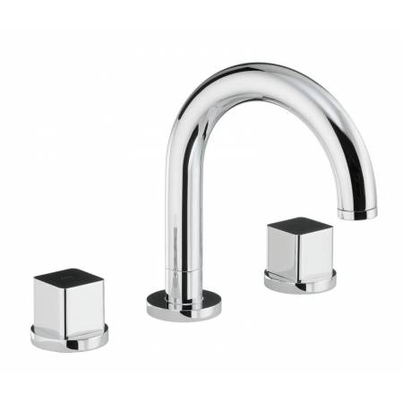 Rapture / Rapport / Fervour Thermostatic Deck Mounted 3 Hole Bath Mixer in Chrome