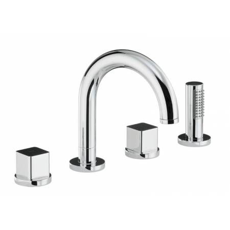 Rapture / Rapport / Fervour Thermostatic Deck Mounted 4 Hole Bath Shower Mixer in Chrome