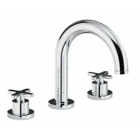 Serenitie Thermostatic Deck Mounted 3 Hole Bath Mixer in Chrome