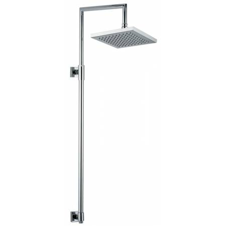 View Alternative product Square Exposed Rigid Riser With 200mm Square Showerhead in Chrome