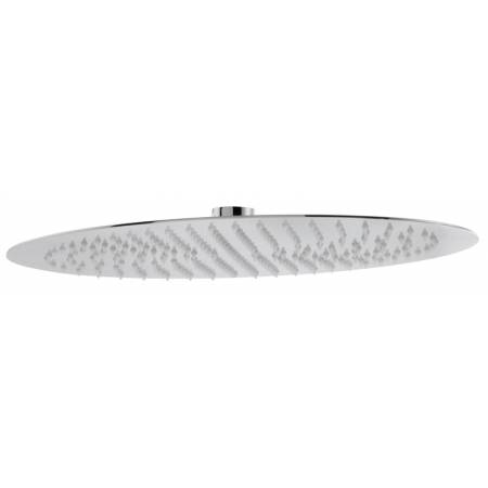 Storm Slimline Oval Showerhead 450mm x 300mm in Polished Stainless Steel