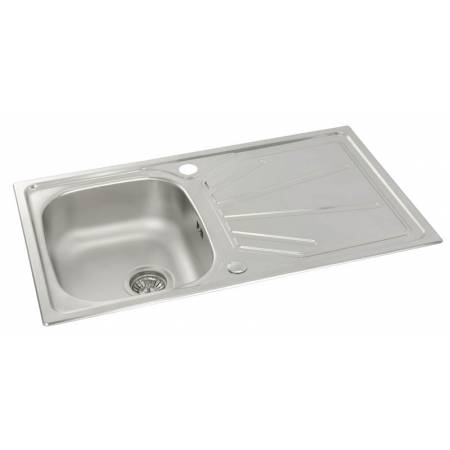 Trydent Single Bowl & Drainer in Stainless Steel