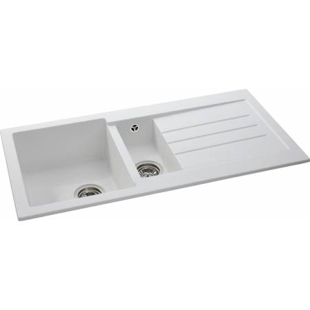 View Alternative product Xcite 1.5 Bowl & Drainer in Frost White Granite