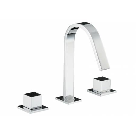 Zeal Deck Mounted 3 Hole Basin Mixer in Chrome
