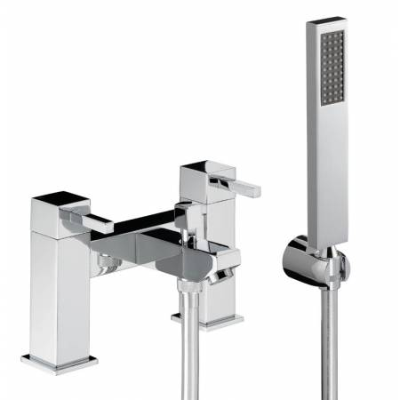 Zeal Deck Mounted Bath Shower Mixer with Shower Handset in Chrome