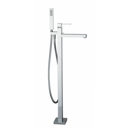 Zeal Floor Standing Bath Filler with Shower Handset in Chrome