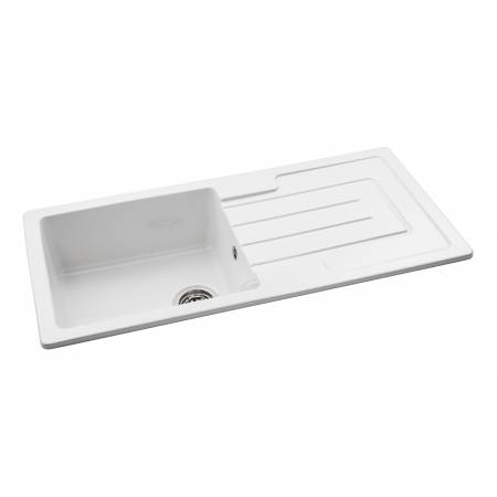 Acton Single Bowl Sink in White Ceramic