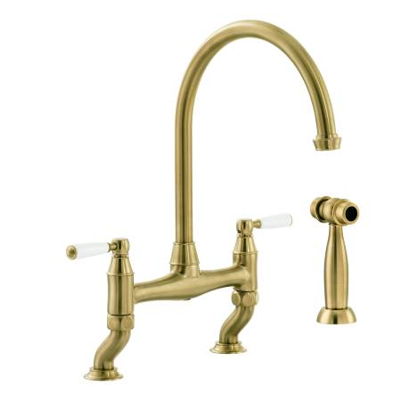 Astbury Bridge Mixer with Independent Handspray in Forged Brass