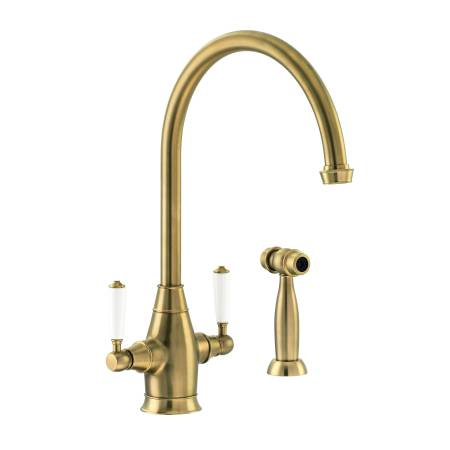 Astbury Monobloc with Integrated Handspray in Forged Brass