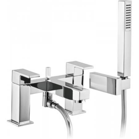 Cento Deck Mounted Bath Shower Mixer with Shower Handset