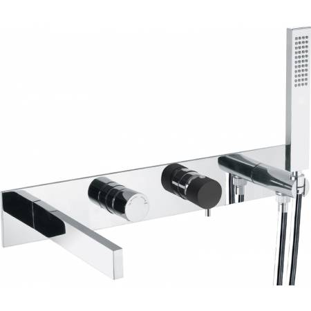 Cyclo Wall Mounted Bath Shower Mixer with Shower Handset