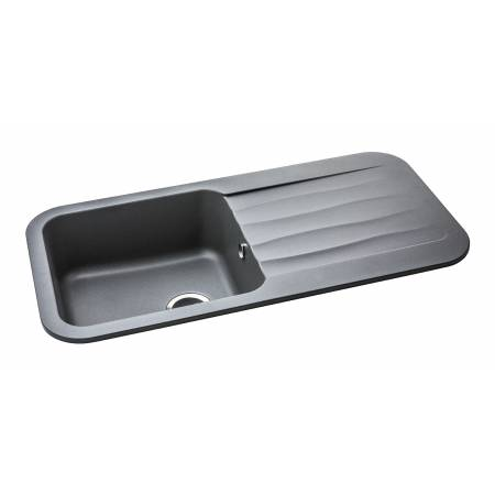 View Alternative product Dune Single Bowl & Drainer in Grey Metallic Granite