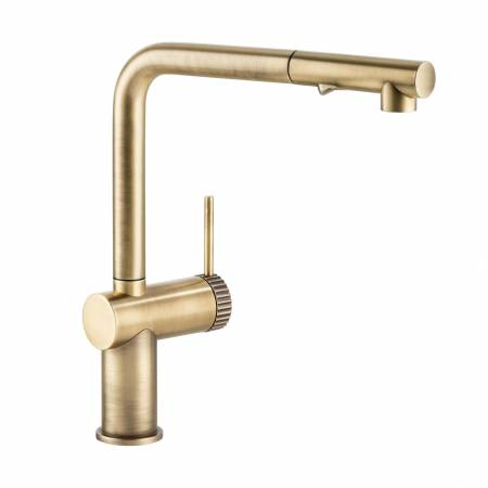 View Alternative product Fraction Single Lever Pull Out Spray in Antique Brass