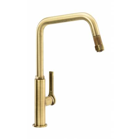 Hex Single Lever Pull Out in Antique Brass