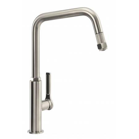 Hex Single Lever Pull Out in Brushed Nickel