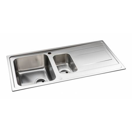 Ixis One and a Half Bowl & Drainer Large Sink in Stainless Steel