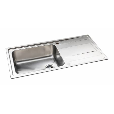 Ixis Single Bowl & Drainer Large Sink in Stainless Steel