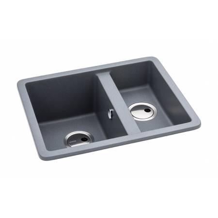 Matrix SQ GR15 One and a Half Bowl Sink in Grey Metallic Granite