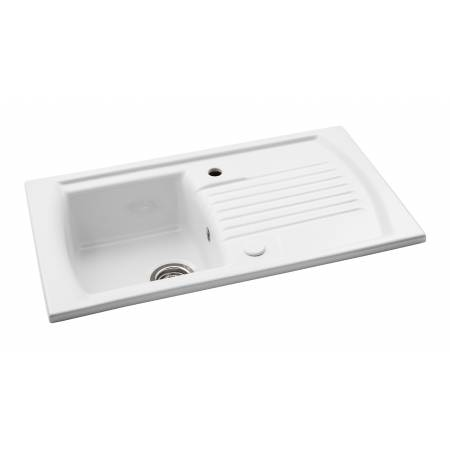 Milford Single Bowl Sink in White Ceramic