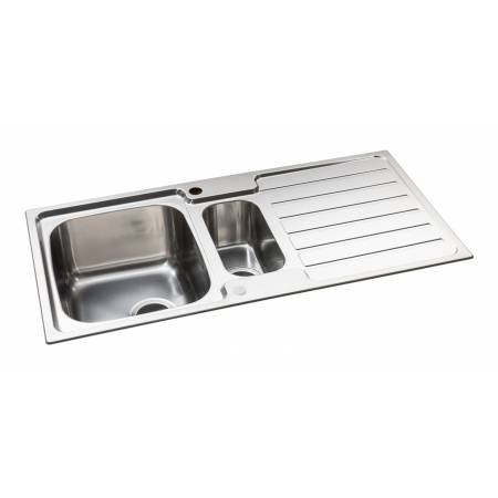 Neron One and a Half Bowl Sink in Stainless Steel