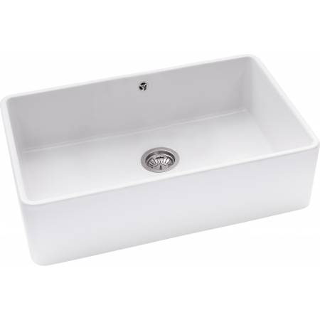 Provincial Large Bowl Sink in White Ceramic
