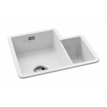 View Alternative product Sandon One and a Half Left Hand Main Bowl in White Ceramic
