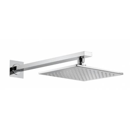Square Wall Mounted 200mm Showerhead Kit in Chrome