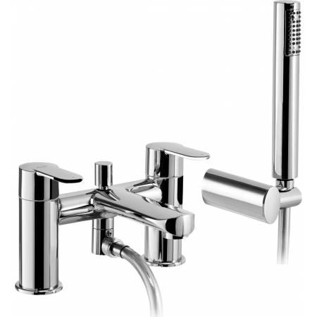 Vedo Deck Mounted Bath Shower Mixer with Shower Handset